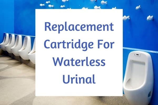 Replacement cartridge for waterless urinal